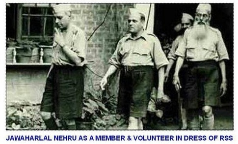 Neheru wears RSS dress