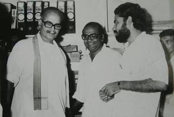 Narendra-Modi-with-4th-RSS-Chief-Prof-Rajju-Bhaiyya-Rajendra-Singh-